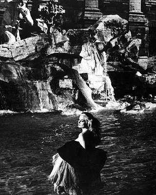 Anita Ekberg In La Dolce Vita  Poster by Silver Screen