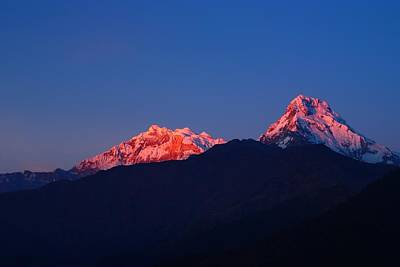 Annapurna South Massif Poster by FireFlux Studios