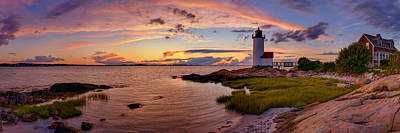 Annisquam Harbor Lighthouse After Sunset Poster by Scott Lynde