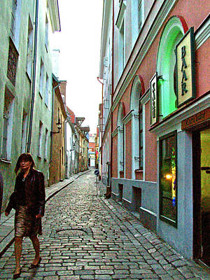 Another Narrow Street In Old Town Tallinn-estonia Poster by Ruth Hager
