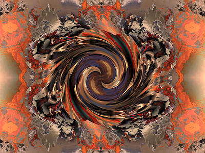 Another Swirl Poster by Claude McCoy