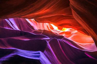 Antelope Canyon 16 Poster by Ingrid Smith-Johnsen