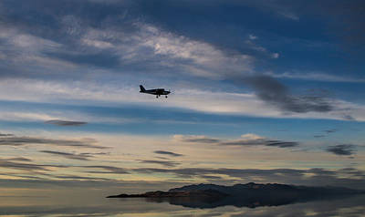 Antelope Island - Lone Airplane Poster by Ely Arsha