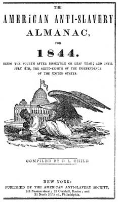 Anti-slavery Almanac, 1844 Poster by Granger