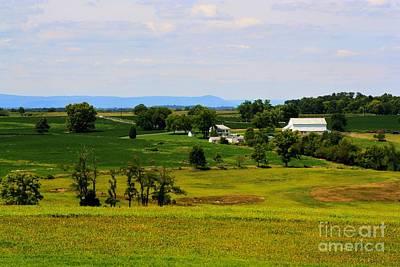Antietam Battlefield And Mumma Farm Poster by Patti Whitten