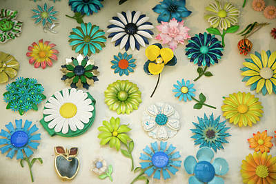 Antique Flower Pins, Palm Springs Poster by Julien Mcroberts