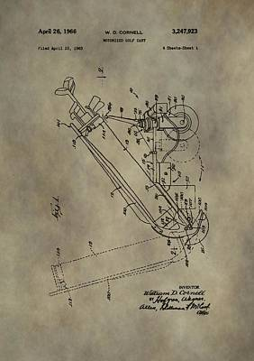 Antique Golf Cart Patent Poster by Dan Sproul