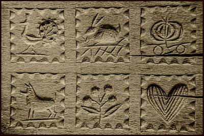 Antique Handcarved Wooden Butter Mold Press Poster by LeeAnn McLaneGoetz McLaneGoetzStudioLLCcom