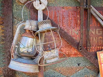 Antique Kerosene Lamps Poster by Mary Lee Dereske