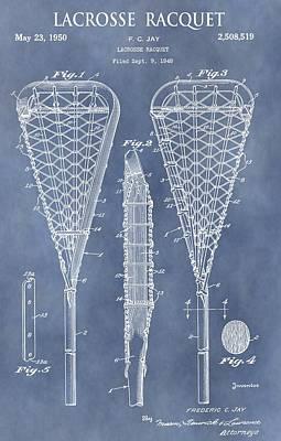 Antique Lacrosse Racquet Patent Poster by Dan Sproul