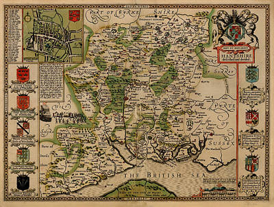 Antique Map Of New Hampshire 1611 Poster by Mountain Dreams