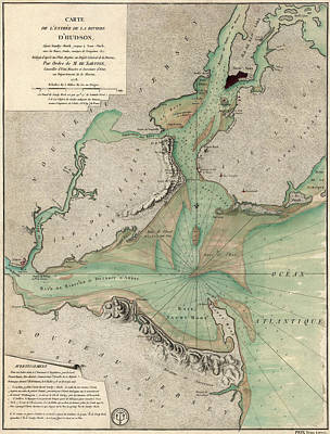 Antique Map Of New York City - 1778 Poster by Blue Monocle