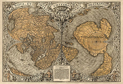 Antique Map Of The World By Oronce Fine - 1531 Poster by Blue Monocle