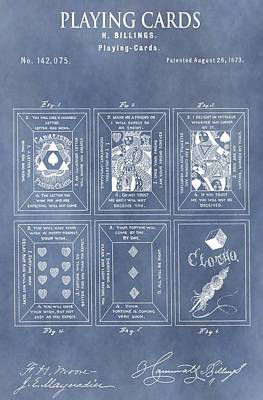 Antique Playing Cards Poster by Dan Sproul