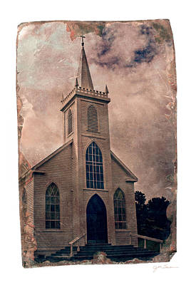 Antique Tintype Style Church In Bodega California Poster by Julie Magers Soulen