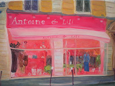 Antoine & Lili, 2010 Oil On Canvas Poster by Antonia Myatt