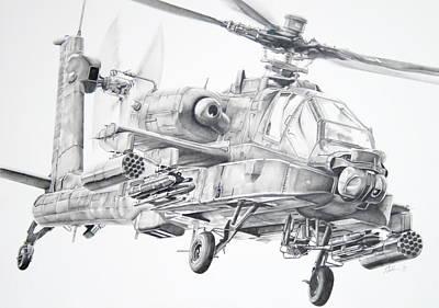 Apache Poster by James Baldwin Aviation Art