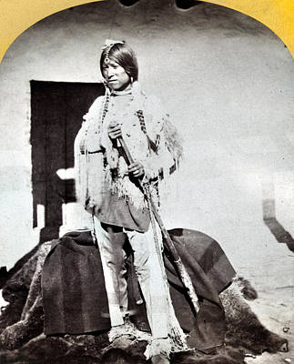Apache Warrior, C1873 Poster by Granger