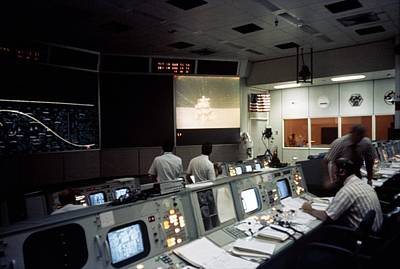 Apollo 15 Moon Landing Mission Control Poster by Science Photo Library
