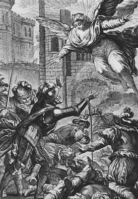 Apparition Of St Louis To Henri Iv Poster by Joseph de Longueil