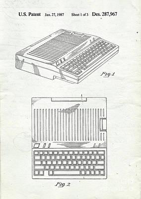 Apple IIe Computer Original Patent Poster by Edward Fielding