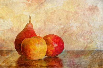 Apples And A Pear II Poster by Heidi Smith