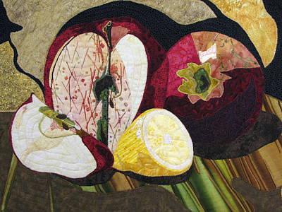 Apples And Lemon Poster by Lynda K Boardman