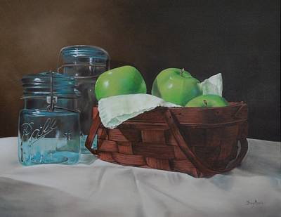 Apples And Mason Jars Poster by Tracy Meola