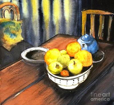 Apples And Oranges - Original Sold Poster by Therese Alcorn
