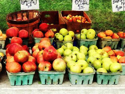 Apples At Farmer's Market Poster by Susan Savad