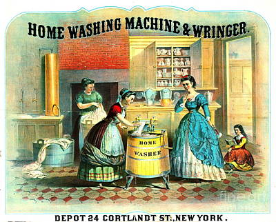 Appliance Ad 1869 Poster by Padre Art