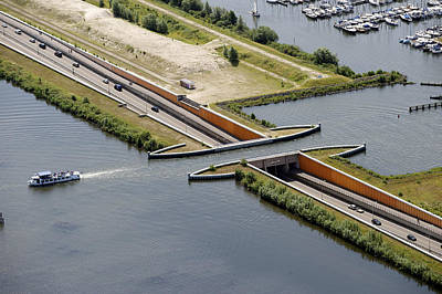 Aquaduct, Harderwijk Poster by Bram van de Biezen
