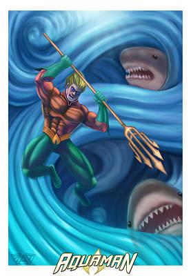 Aquaman Poster by Michael Adams