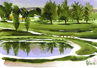 Arcadia Valley Country Club Dramatic Poster by Kip DeVore
