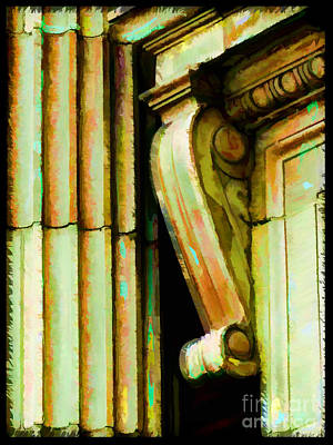 Archatectural Elements  Digital Paint Poster by Debbie Portwood
