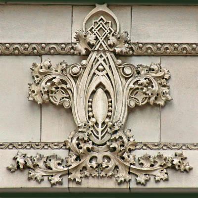 Architectural Detail - Terra Cotta Medallion - Omaha Poster by Nikolyn McDonald