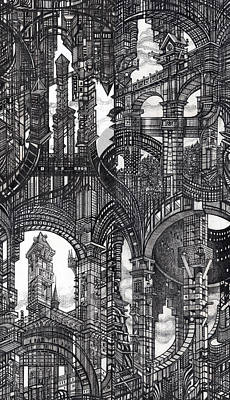 Architectural Utopia 16 Fragment Poster by Serge Yudin