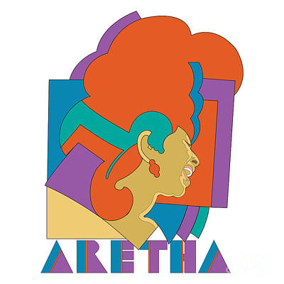 Aretha Franklin No.04 Poster by Caio Caldas
