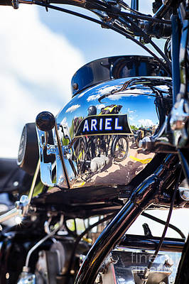 Ariel Motorcycle Hdr Poster by Tim Gainey