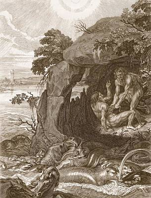 Aristeus Compels Proteus To Reveal Poster by Bernard Picart