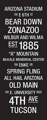 Arizona College Town Wall Art Poster by Replay Photos
