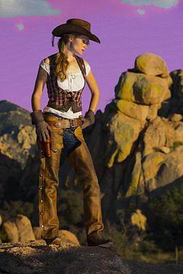 Arizona Cowgirl Poster by Christian Heeb