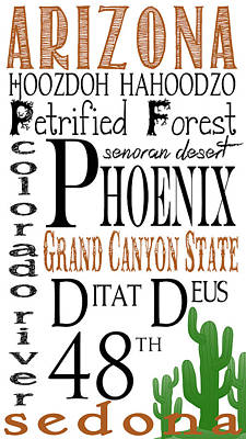Arizona Poster by Heather Applegate