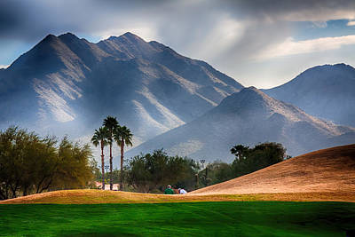 Arizona Sunrise Golfing Poster by Fred Larson