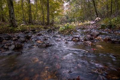 Arkansas Stream Poster by Linda Unger