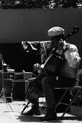 Arkestra Cellist Uc Davis Quad Poster by Lee  Santa