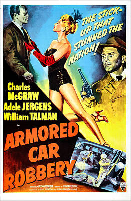 Armored Car Robbery, Us Poster Poster by Everett