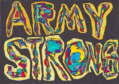 Army Strong Poster by Darrell Black