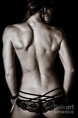 Art Of A Woman's Back Muscles  Poster by Jt PhotoDesign