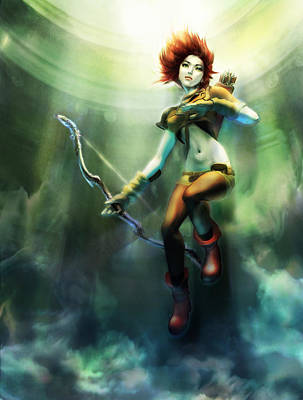 Artemis Rising Poster by Andrea Tseng